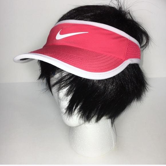 Nike coral tennis Dri-Fit athletic hat visor S M 92f72310d56f